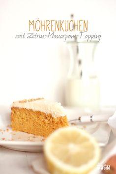 Rezept Möhrenkuchen mit Zitrus-Topping by dinchensworld.de