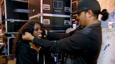Jimmy & Naomi backstage