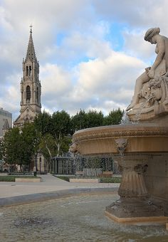 Esplanade Charles de Gaulle, Nimes, France