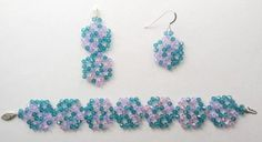 Beaded Jewelry set made with my Teeny-Tiny Doily 2a bead pattern.