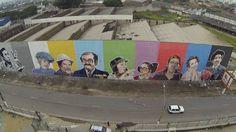 Os muros de São Paulo foram palco de uma homenagem a um dos mestres do humor: Roberto Bolaños e a turma do Chaves.http://goo.gl/70QyQx
