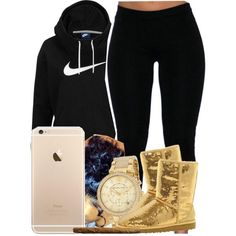 304 by tuhlayjuh on Polyvore featuring polyvore, fashion, style, NIKE, UGG Australia and Michael Kors