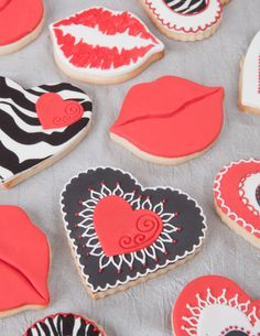 Wild Valentine cookies - decorating with instructions