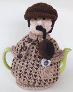 Ellimentry my dear Watson http://www.loveknitting.com/sherlock-holmes-tea-cosy-knitting-pattern-by-teacosyfolk