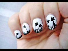 Desafío 31 días: día 7 uñas blanco negro / 31 Day Challenge: Day 7 black white nails