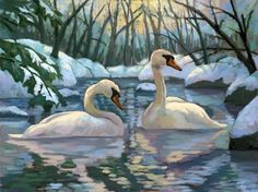 *** Oil Painting Pictures, Pictures To Paint, 7 Dwarfs Costumes, Beautiful Birds, Animals Beautiful, Swan Painting, Swan Love, Aquatic Birds, Watercolour Tutorials
