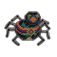 Mill Hill® Sassy Spider Counted Cross-Stitch & Beading Kit - Herrschners