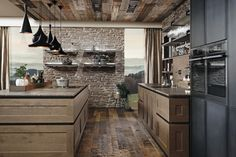 """Today industrial design is very famous due to the low cost and unique look. Today we are here with a collection of Industrial Kitchen Design Ideas"""" for your inspiration. Industrial Kitchen Design, Industrial House, Cottage Kitchens, Modern Farmhouse Kitchens, Chalet Design, House Design, Chalet Ski, Aspen House, Chalet Interior"""