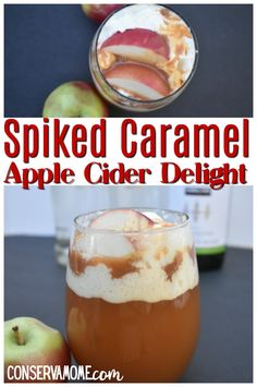This delicious Spiked Caramel Apple Cider Delight is a refreshing fall treat that is perfect for an afternoon treat, a party drink or just because. Easy to make, capturing all the favorite fall flavors in a delicious Fall Cocktail. Drinks Alcohol Recipes, Yummy Drinks, Alcoholic Drinks, Drink Recipes, Tofu Recipes, Salmon Recipes, Recipes Dinner, Cooker Recipes, Crockpot Recipes