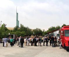 Clients enjoy Food Trucks at the OCC Plaza. Photo: Nancy Erz