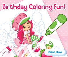 You can find Strawberry Shortcake invitations, games, party hats, etc. All printable and free!