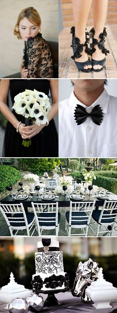 Black-and-white wedding inspiration