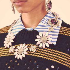 Bold jewelry   Miu Miu Fall 2015