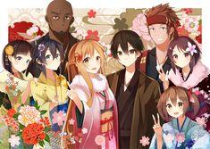 Pixiv Id 3889453, Sword Art Online, Kirigaya Kazuto, Shinozaki Rika, Yuuki…