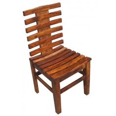 Indian Wooden Slat Chair Indian Wood Slat Chair In Solid Mango Wood  Construction. Contemporary Design