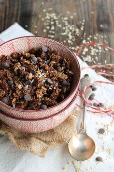 Granola chocolat et noix de coco - aime & mange