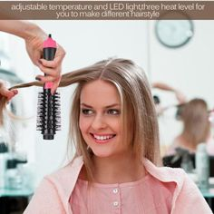 One-Step Hair Dryer & Volumizer TM – fitnessbeautybar Protective Hairstyles, Curled Hairstyles, Rotating Hair Brush, Rotating Curling Iron, Hair Dryer Brush, One Step, Damp Hair Styles, Different Hairstyles, Shiny Hair