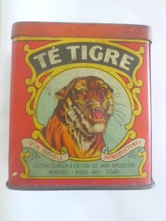 Vintage Te TigreTiger Tea Tin Box