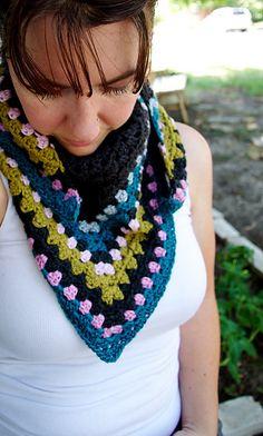 Ravelry: Half Granny Square Shawl pattern by Anastacia Zittel