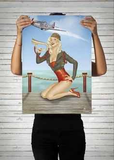 Poster Pinup Army / Artista Alex Guenther