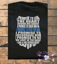Police Wife Glitter T-shirt, LEOW, LEO Wife, Thin Blue Line, LEO support, Badge, Police Lives Matter by LittleButFierceCo on Etsy