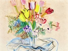Bouquet of Tulips and Anemones - Raoul Dufy - The Athenaeum