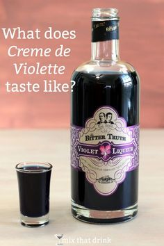 Creme de Violette (violet liqueur) is a low-proof, dark blue liqueur made from the flower, violet. It's flowery and sweet, and surprisingly hard to describe. Click through to get my full tasting notes.