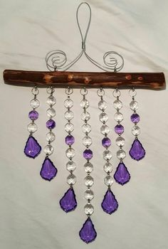Crystal suncatcher with Violet/Purple accent crystals 7 image 2