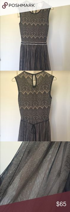 Anthropologie dress Lace pattern up too with a tulle skirt. Worn only once. Cheaper on merc! Anthropologie Dresses