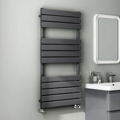 1200x600mm Anthracite Flat Panel Ladder Towel Radiator