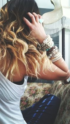 #hairstyles #ombre #ombrehair #jewelry