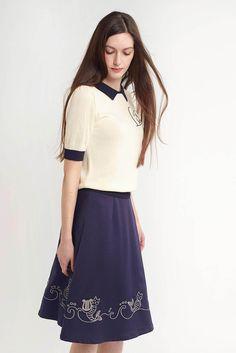 Mer-Cat Cadence Skirt (Navy) - misspatina.com