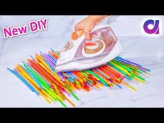 How to make drinking straw slippers at home | Best out of waste | Artkala 244 - YouTube