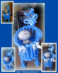 """Instructions, Workshops – Club """"Balloons"""" - Decoration For Home Baby Shower Deco, Baby Shower Parties, Baby Shower Themes, Baby Boy Shower, Ballon Decorations, Balloon Centerpieces, Party Decoration, Baby Ballon, Baby Shower Balloons"""