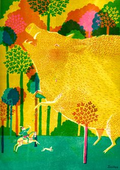 It's Nice That : JooHee Yoon uses traditional printmaking techniques to create beautiful illustrations Art And Illustration, American Illustration, Illustration Children, Magazine Illustration, Joohee Yoon, Art Graphique, Printmaking, Dragons, Artsy