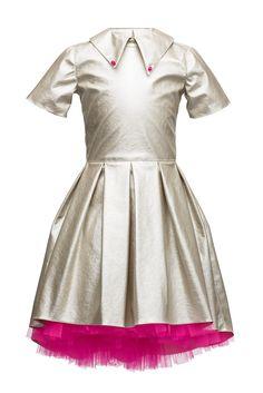Sudraba asimetriskā kleita ar tillu Girls Designer Dresses, Girls Dresses, High Low, Girl Outfits, Short Sleeve Dresses, Lazy, Elegant, Birthday Board, Unique