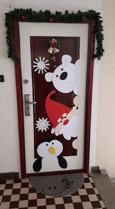 50 Christmas Door Decorations for Work to help you Ace the Door Decorating Contest - Hike n Dip - - Looking for quick Christmas Door Decoration Ideas? Here are the best Christmas Door Decorations for work to ace the Christmas door decorating contest. Office Christmas, Christmas Crafts For Kids, Christmas Art, Simple Christmas, Homemade Christmas, Christmas Budget, Christmas Windows, Christmas Tables, Modern Christmas