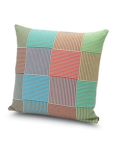 Shop Wembley Pillow from Missoni Home at Horchow, where you'll find new lower shipping on hundreds of home furnishings and gifts. Striped Cushions, Patchwork Pillow, Modern Pillows, Bath Linens, Mosaic Patterns, Bohemian Pillows, Missoni, Original Image, Decoration