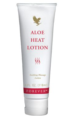 Forever Living - Aloe Heat Lotion. Luxury massage lotion providing blissful relief from everyday stress and strains. Excellent warming lotion, ideal for maintaining healthy joints and muscles, especially good for sports people. http://www.beforeverfree.myforever.biz/store