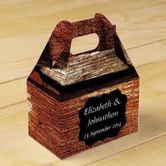 Old Country Barn Wedding Favor Box