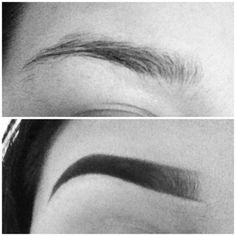 The difference! filled in eyebrows