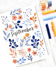 Bullet journal inspiration September has ended but this cover . - deutshlang - Bullet journal inspiration September has ended but this cover . Bullet journal inspiration September has ended but this cover by is just so beautiful! Bullet Journal School, Bullet Journal Inspo, Bullet Journal Cover Ideas, Bullet Journal Lettering Ideas, Bullet Journal Notebook, Bullet Journal Aesthetic, Bullet Journal Ideas Pages, Bullet Journal Layout, Journal Covers
