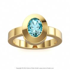 London Blue Topaz Ring in 14k Yellow Gold #topaz #engagement #ring