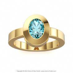 London Blue Topaz Ring in 14k Yellow Gold #topaz #engagement #ring