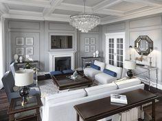 Фото из статьи: Как создать интерьер в стиле американской классики: квартира в Питере