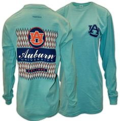 Ikat Auburn Diamond Patterned Long Sleeve | Auburn University Apparel by Tiger Rags