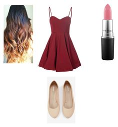 """""""Date/night out"""" by rosapalma on Polyvore featuring Express, Glamorous and MAC Cosmetics"""