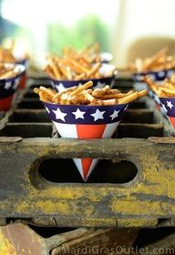 diy fourth of july paper snack cups party idea food - free printable