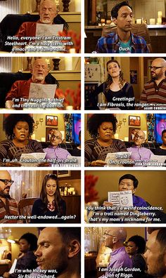 The second Dungeons of Dragons episode is just too good. Community Series, Community Tv Show, Community College, Comedy Tv, Comedy Show, Joel Mchale, Tv Memes, Running Jokes, Cheer Up