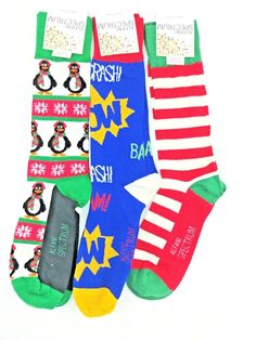 ce60d86a9270 Lot 2 ALFANI Mens Colorful Christmas Print Knit Crew Socks 10-13 #Alfani # Dress